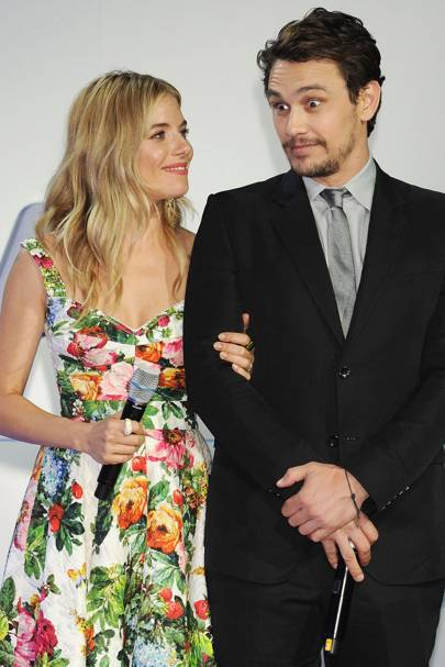 Sienna Miller and James Franco