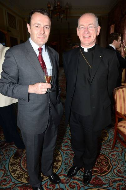 Major Pete Flynn and Rt Reverend Richard Moth