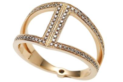 Rose-gold & diamond ring, £1,950, by Noor Fares