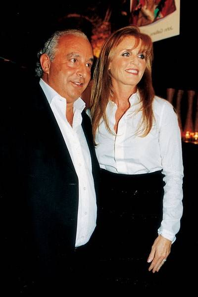 Sir Philip Green and Sarah Ferguson