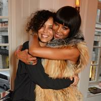 Jeanette Calliva and Naomi Campbell