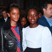 Letitia Wright and Lupita Nyong'o