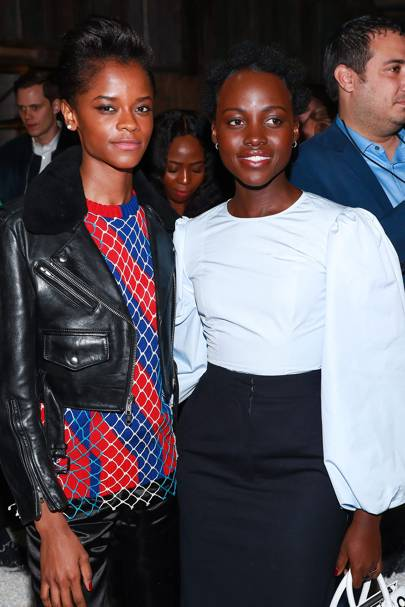 Letitia Wright and Lupita Nyong'o
