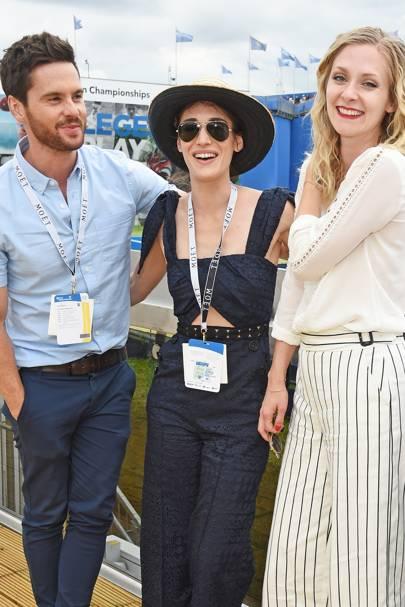 Tom Riley, Lizzy Caplan and Portia Freeman