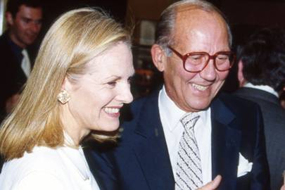Mrs Mortimer Sackler and Michael Szell