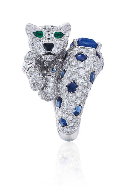 Emerald-and-onyx Panthère ring by Cartier