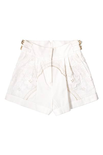 Cotton & lace shorts, £2,405, by Roberto Cavalli