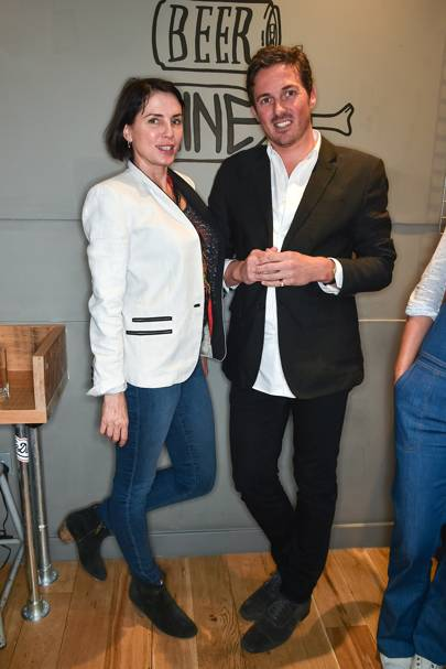 Sadie Frost and Dave Gardner
