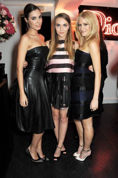 Amber Le Bon, Becky Tong and Pixie Lott