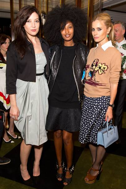 Daisy Lowe, Julia Sarr Jamois and Laura Bailey