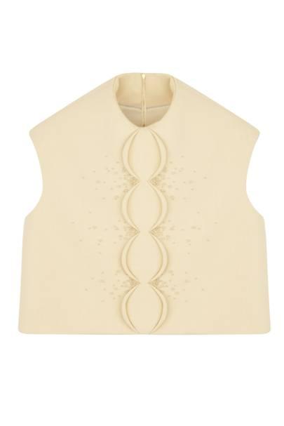 Wool top, £1,400, by Delpozo