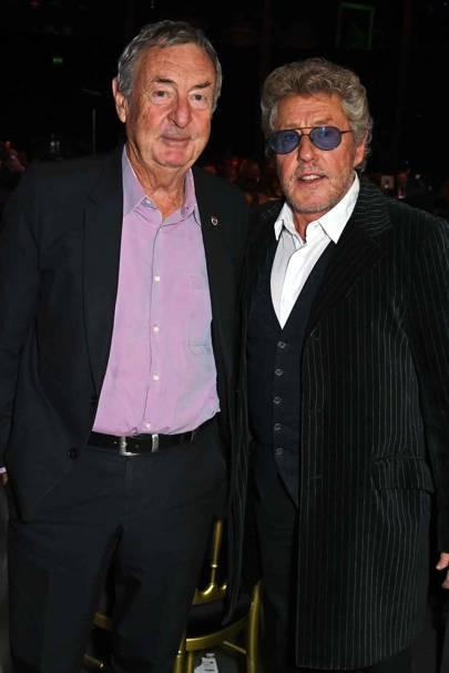 Nick Mason and Roger Daltrey