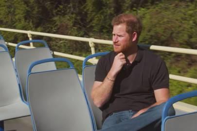 El Duque de Sussex durante el rodaje.