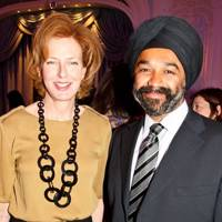 Julia Peyton-Jones and Harpal Kumar