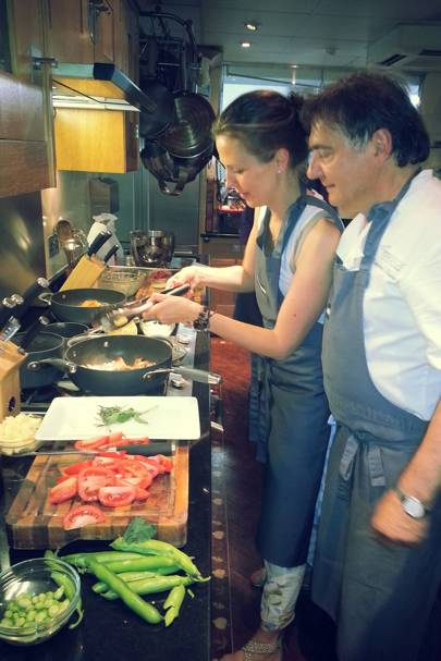 Francisca Kellett and Raymond Blanc