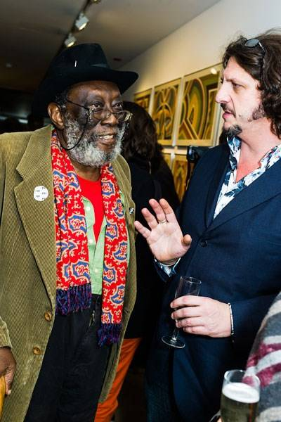 Frank Bowling and Jay Rayner