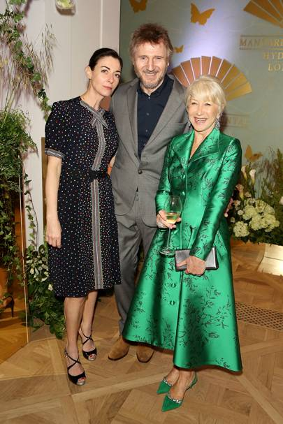 Mary McCartney, Liam Neeson and Dame Helen Mirren