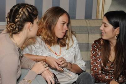 Eugenie Niarchos, Nina Flohr and Noor Fares