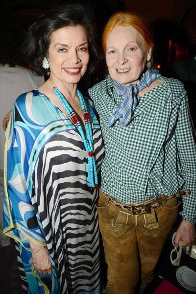 Bianca Jagger and Dame Vivienne Westwood