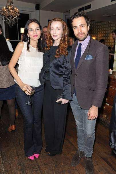 Yasmin Mills, Olivia Grant and Diego Bivero-Volpe