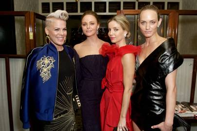 Pink, Stella McCartney, Annabelle Wallis and Amber Valletta