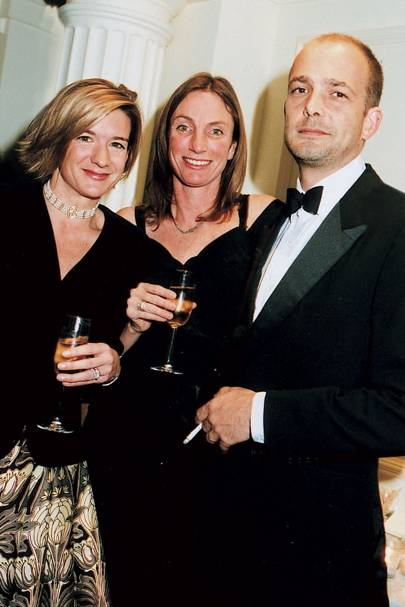 Mrs Edward Farquhar, Louise Johnson-Hill and Max Wigram