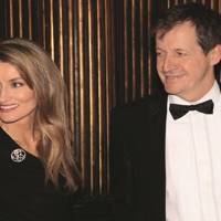 Natascha McElhone and Alastair Campbell