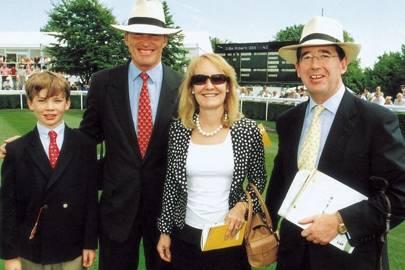 Mrs John Gosden, John Gosden, Lord Grimthorpe and Thaddeus Gosden-Hood