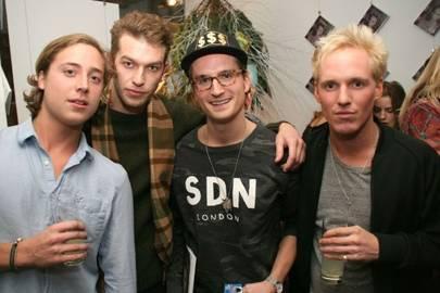 Rob McCallum, Josh Parkinson, Oliver Proudlock and Jamie Laing