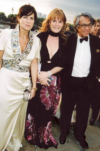 Lady Tang, Sarah, Duchess of York and Sir David Tang