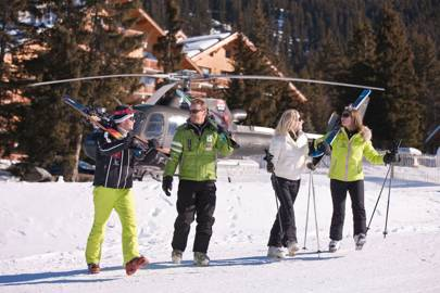 A lemming of heli-skiers