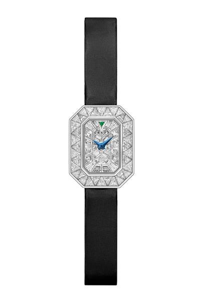 White-gold, diamond and satin watch, POA, by Graff