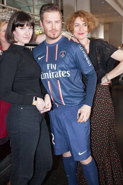 Poppy Chancellor, 'David Beckham' and Anna Chancellor
