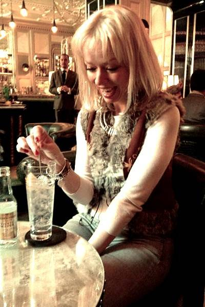 Pre-dinner gin and tonic at The Connaught