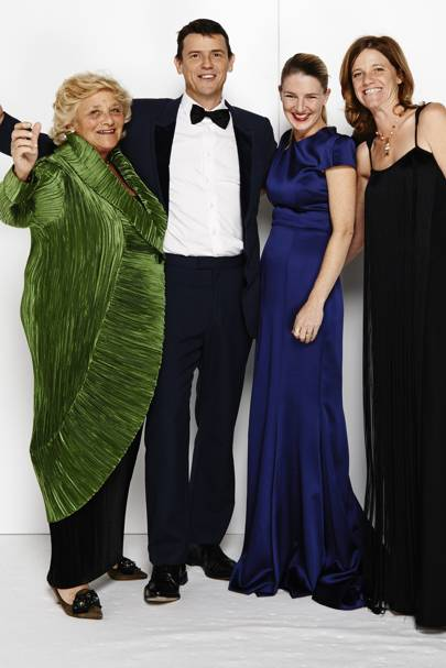 Dame Vivien Duffield, Marcus Langlands Pearse, Melinda Stevens and Arabella Duffield