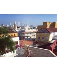 'Woke up in Cartagena' declares Harley Viera Newton