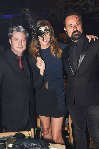 Matthew Freud, Heather Kerzner and Evgeny Lebedev