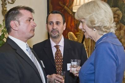 Martin Sawers, Silvio Solorzano and the Duchess of Cornwall