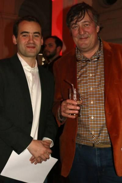 Sam Atiko and Stephen Fry