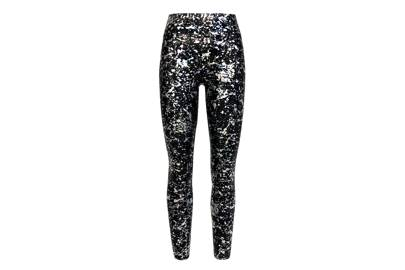 Winter Sports Leggings Black Size 10 Hologram Stripes+gem Panel At Back Demand Exceeding Supply