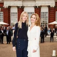Rebecca Corbin-Murray and Lily James