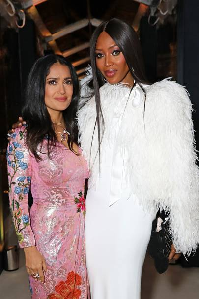 Salma Hayek Pinault and Naomi Campbell