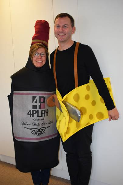 Karen Kelner and Gavin Green as Death by Wine and Cheese