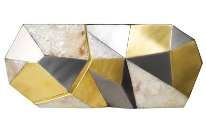 Mother-of-pearl clutch, £295, by Rafe