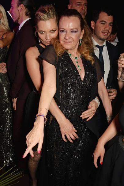 Kate Moss and Caroline Scheufele