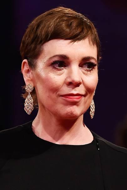 Olivia Colman in Buccelati at Venice Film Festival