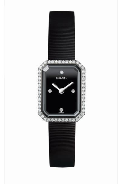 Steel, diamond and rubber watch, £3,600, by Chanel