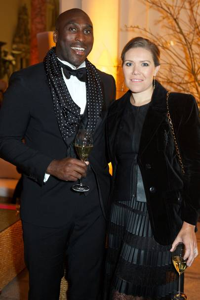 Sol Campbell and Fiona Barrett-Campbell