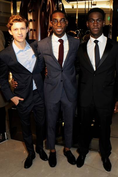 Tinie Tempah, Tom Holland and Ade Oyefeso