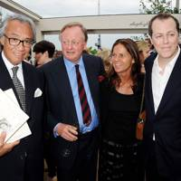 Sir David Tang, Andrew Parker Bowles, Lady Tang and Tom Parker Bowles, 2012
